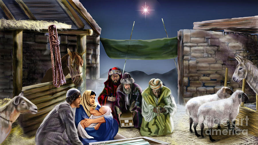 Holy Night Painting  - Holy Night Fine Art Print