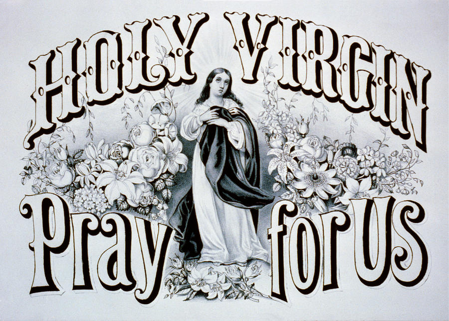 Holy Virgin Pray For Us Photograph  - Holy Virgin Pray For Us Fine Art Print