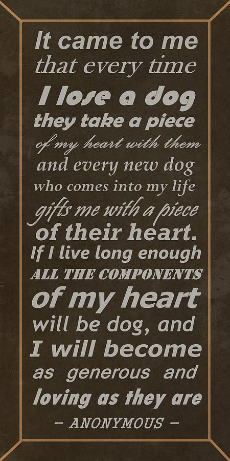 Homage To The Dogs In Our Lives Digital Art