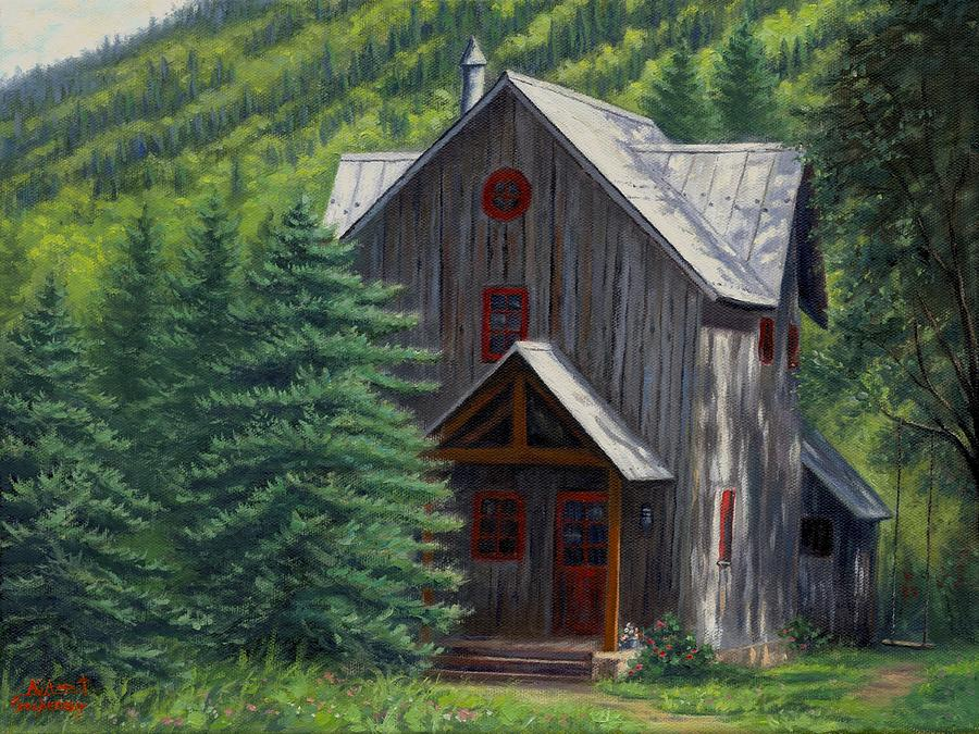 Home away from home painting by asa gochenour for Home away from home cabins
