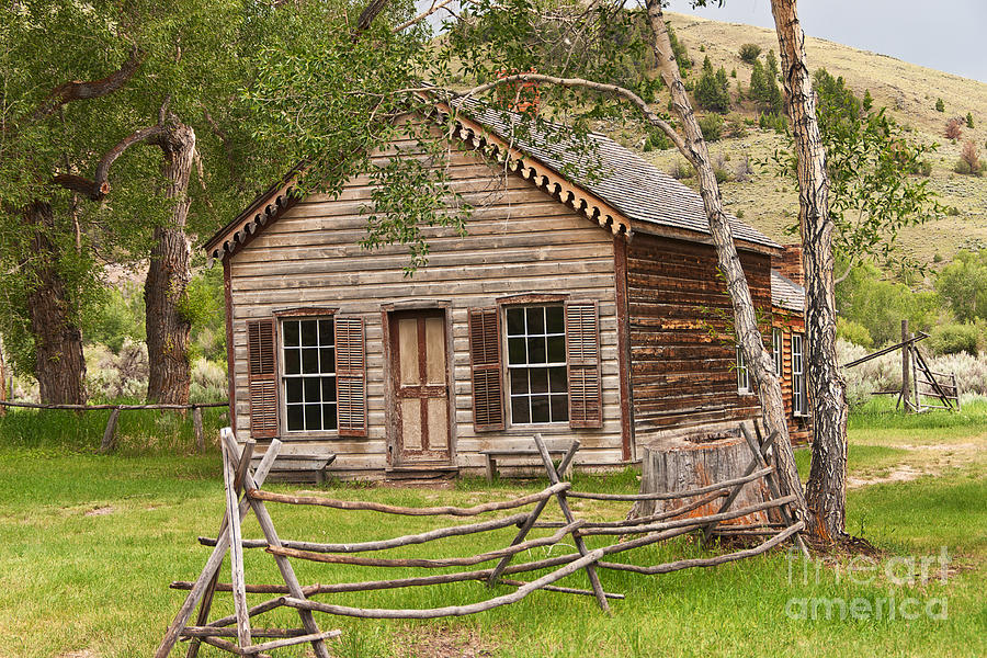 Home In Bannack Photograph  - Home In Bannack Fine Art Print