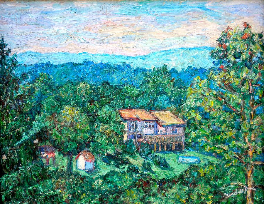 Home In The Hills Painting