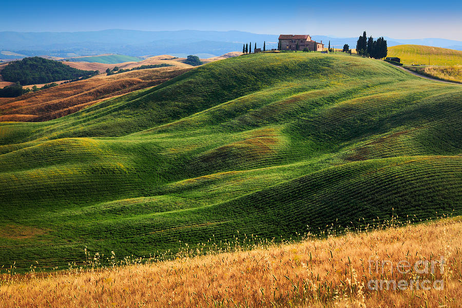 Europe Photograph - Home On The Hill by Inge Johnsson