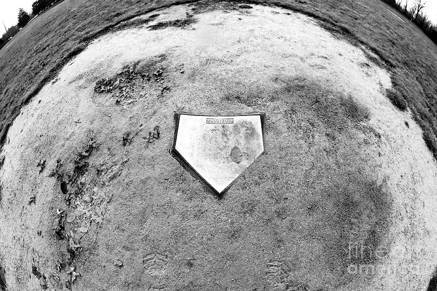 Home Plate Fisheye Photograph  - Home Plate Fisheye Fine Art Print
