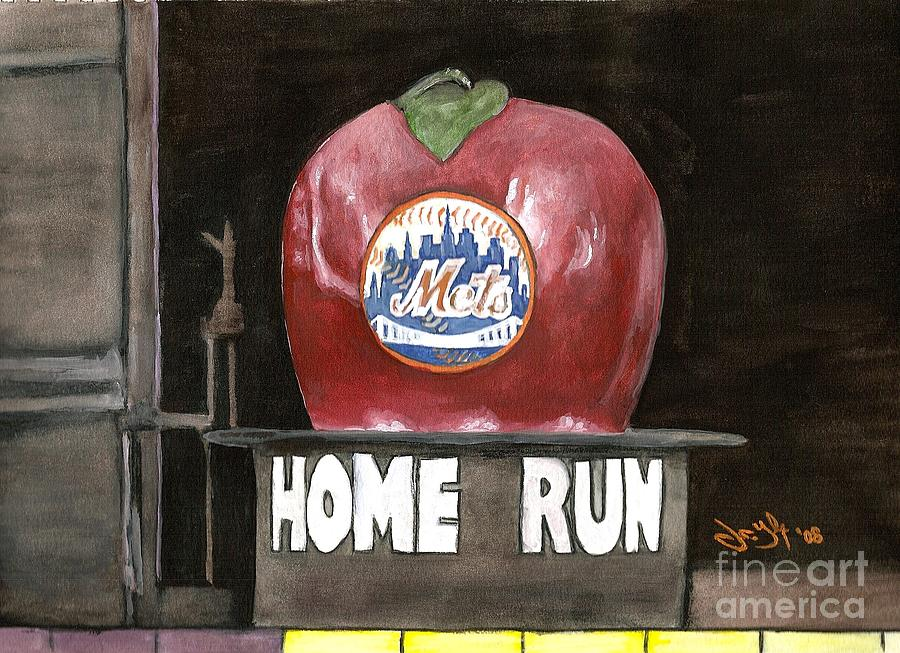 Home Run Apple Painting  - Home Run Apple Fine Art Print