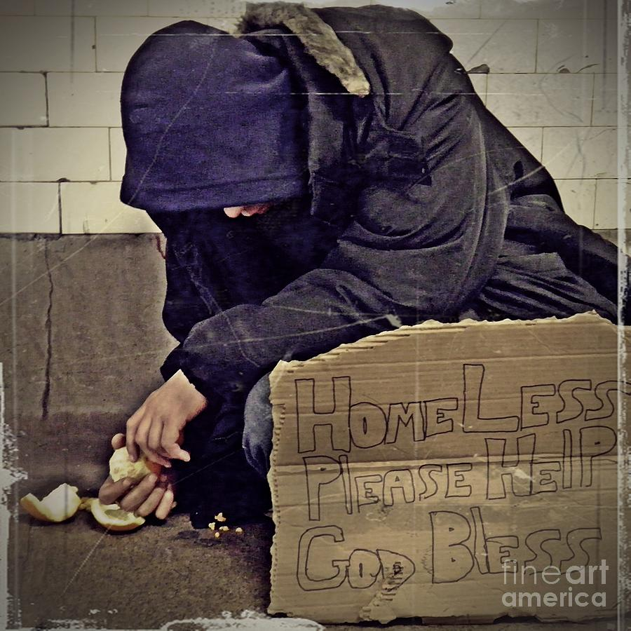Homeless Please Help Photograph - Homeless Please Help by Sarah Loft