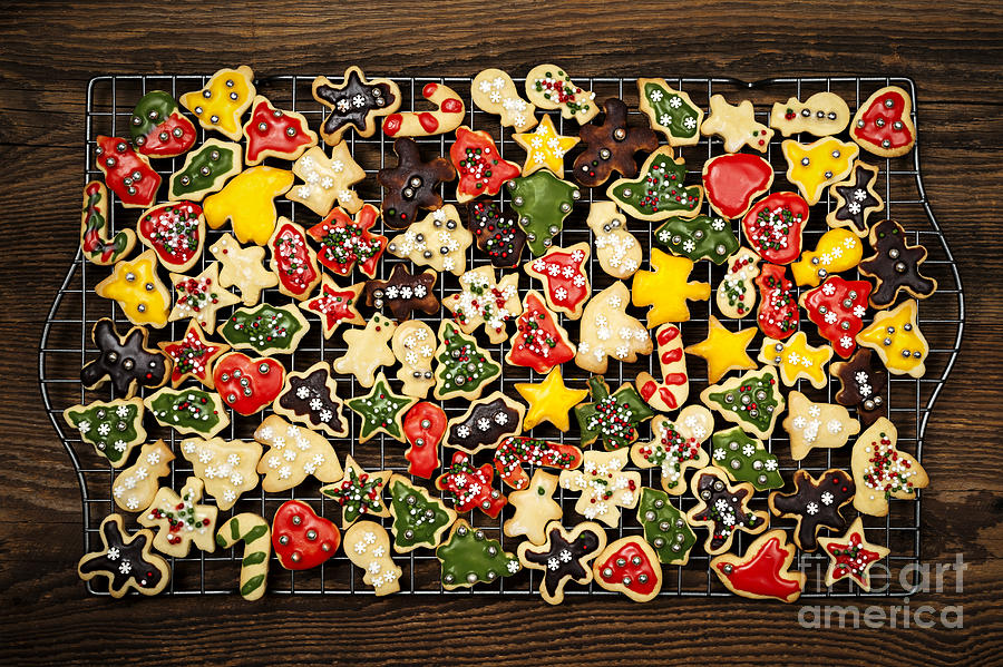 Homemade Christmas Cookies Photograph  - Homemade Christmas Cookies Fine Art Print