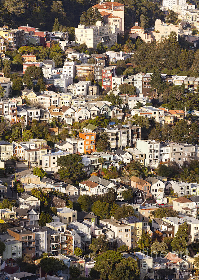 Homes Of San Francisco Photograph