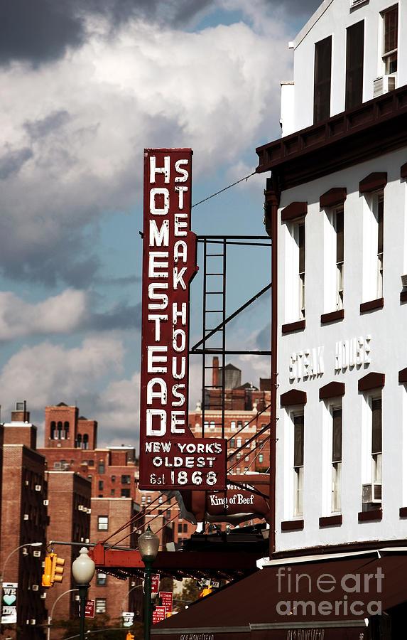 John Rizzuto Photograph - Homestead Steakhouse by John Rizzuto