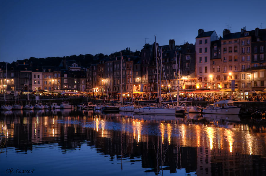 Honfleur At Night Photograph