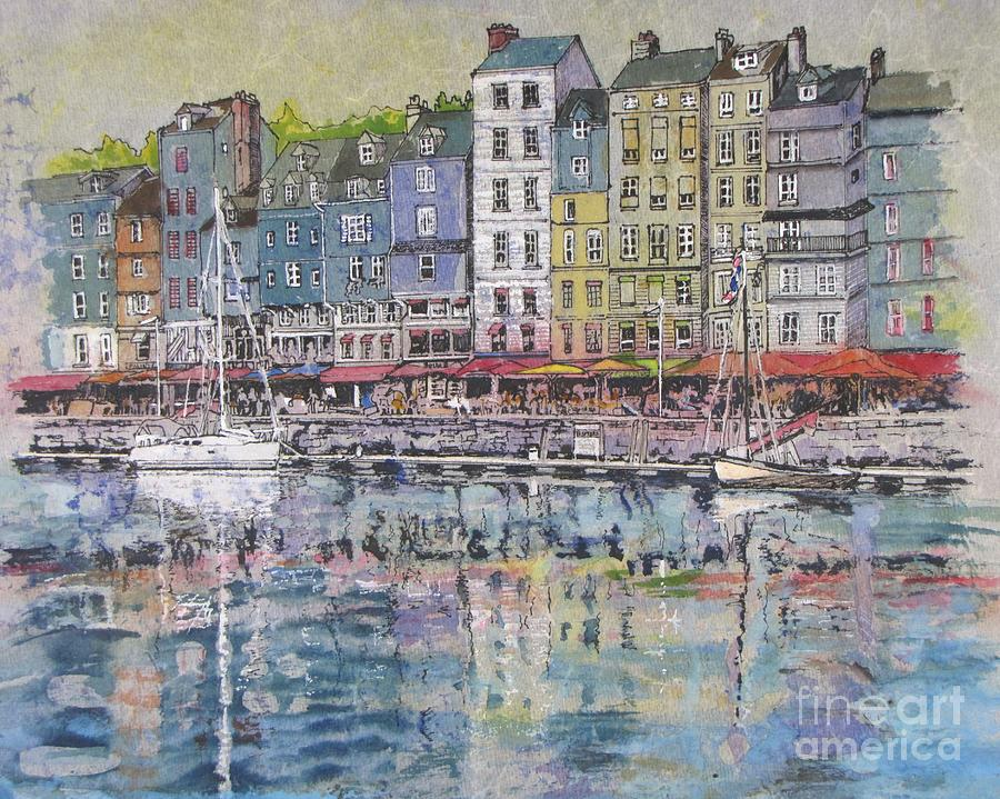 Honfleur France  City new picture : Honfleur Painting Honfleur Harbour In France by Bev Morgan