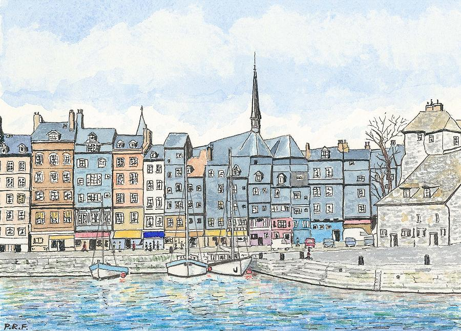 Honfleur Harbour - Normandy Painting  - Honfleur Harbour - Normandy Fine Art Print