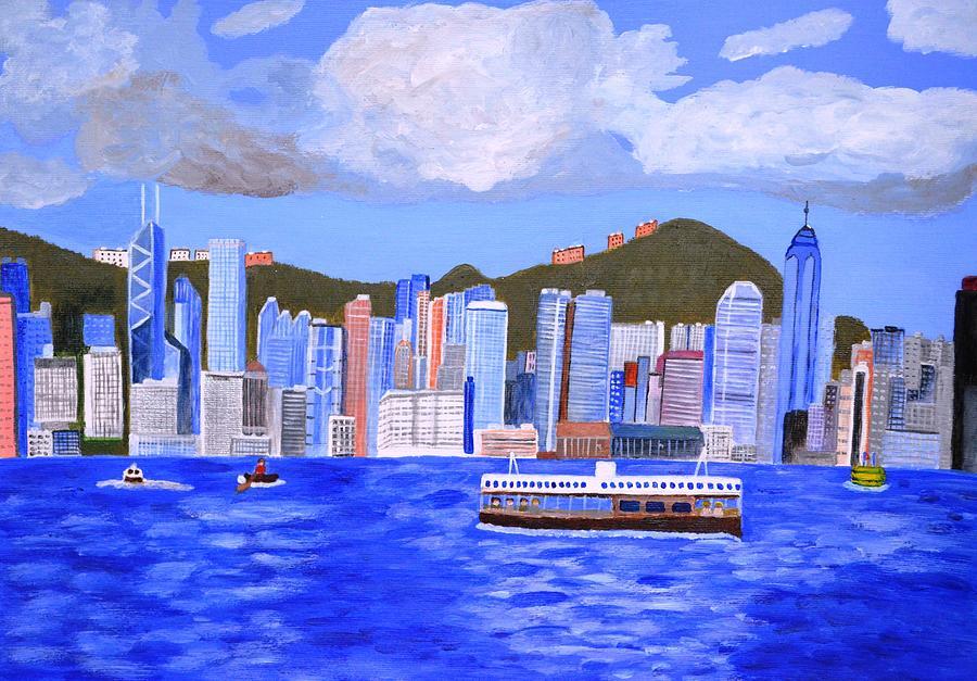 Hong Kong Painting By Magdalena Frohnsdorff
