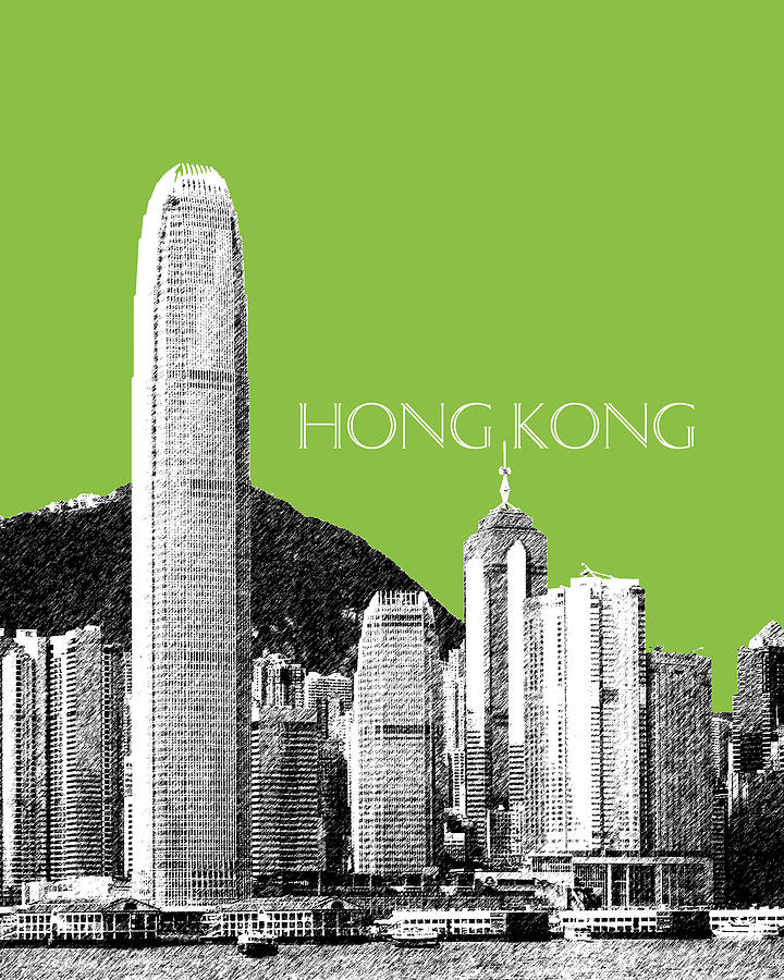 Hong Kong Skyline 1 - Olive Digital Art