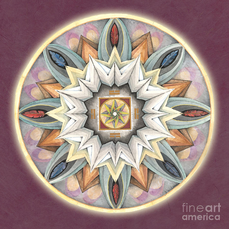 Honor Mandala Painting  - Honor Mandala Fine Art Print