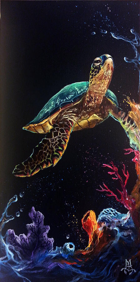 Reef Painting - Honus Reef by Marco Antonio Aguilar