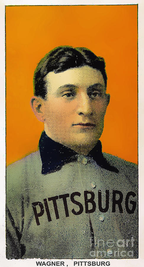 Honus Wagner Baseball Card 0838 Photograph