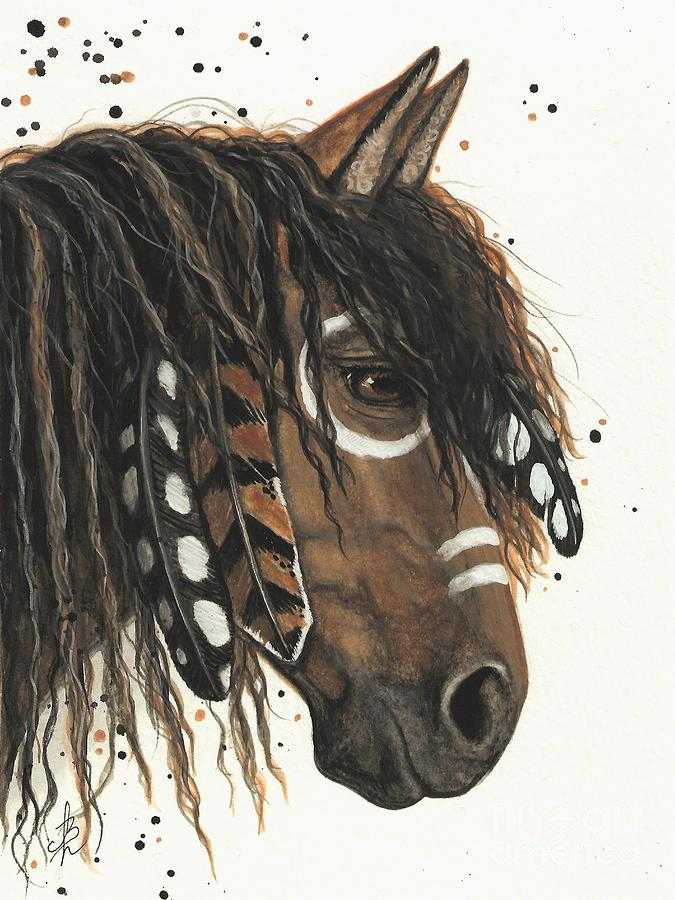 Hopa Majestic Mustang Series 47 Painting By Amylyn Bihrle