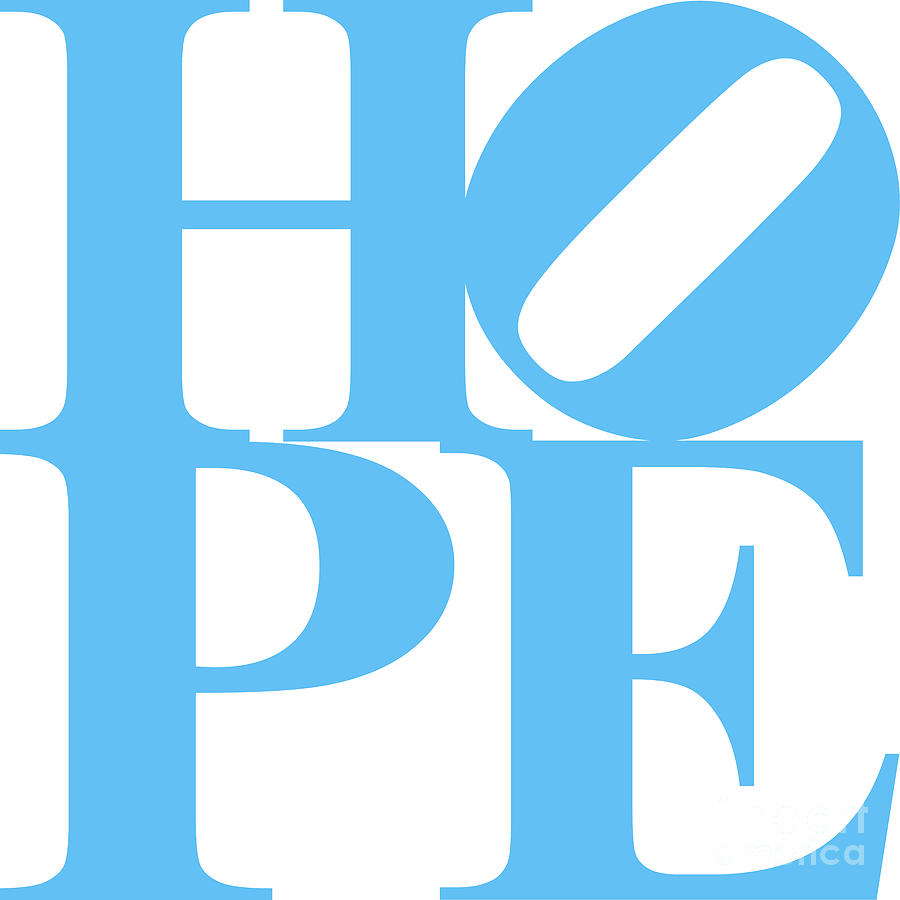 Hope 20130710 Blue White Digital Art