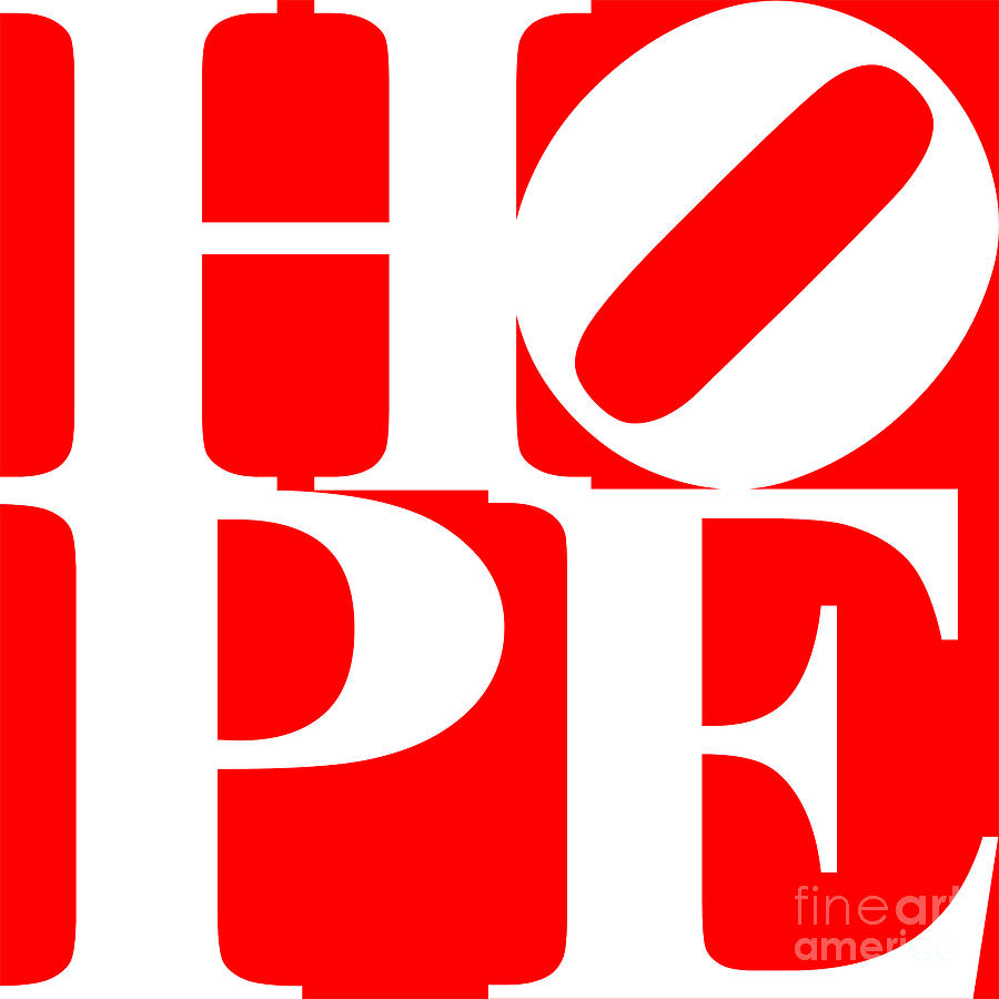 Hope 20130710 White Red Digital Art