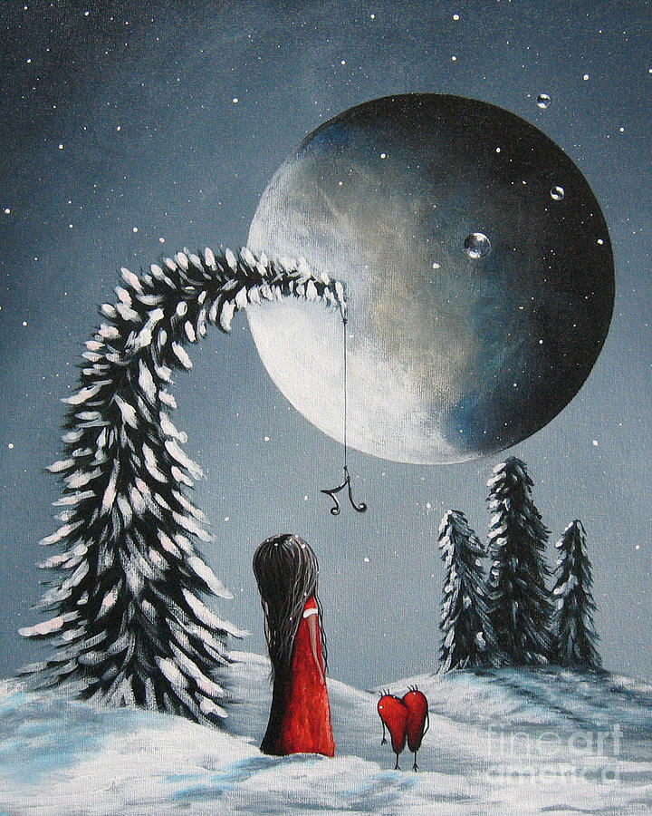 Winter Painting - Hope Is On Her Way By Shawna Erback by Shawna Erback