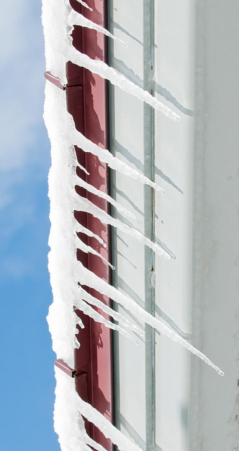 Horizontal Icicles  Photograph  - Horizontal Icicles  Fine Art Print