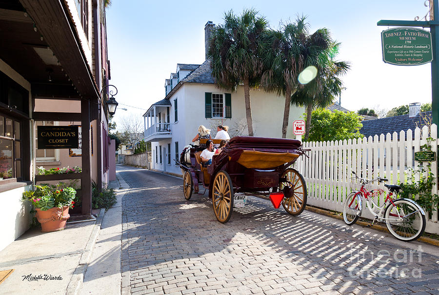 Horse And Buggy Ride St Augustine Photograph  - Horse And Buggy Ride St Augustine Fine Art Print