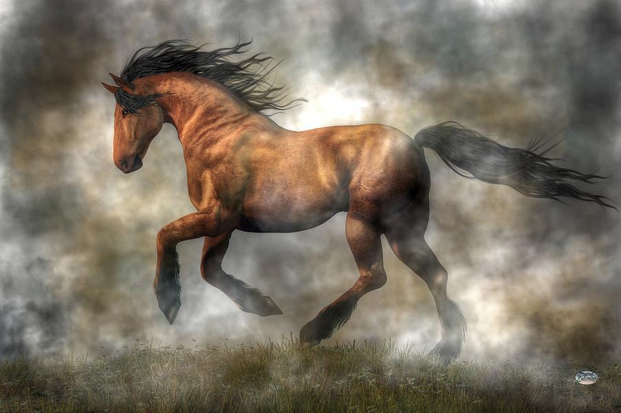Horse Digital Art - Horse by Daniel Eskridge