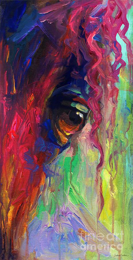 Horse Eye Portrait  Painting