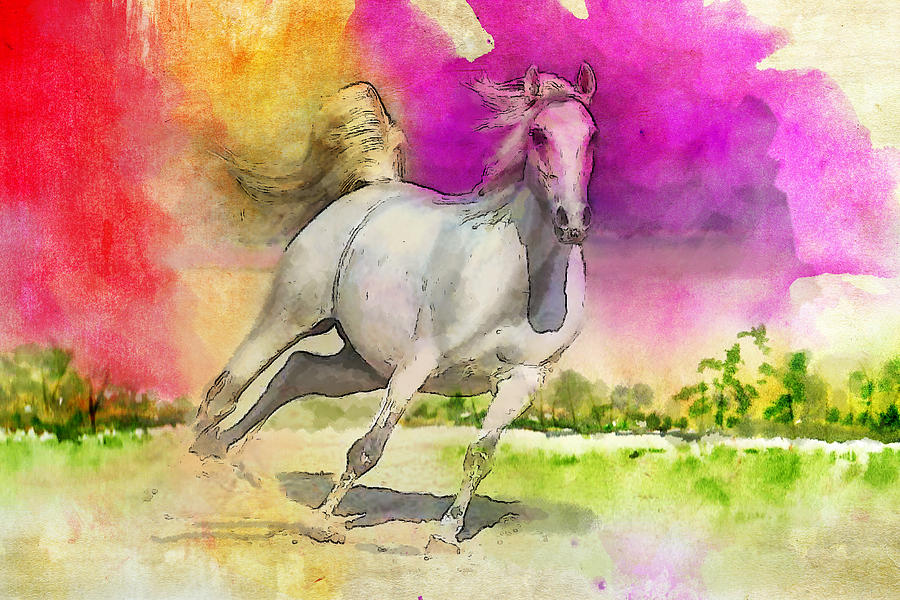 Horse Paintings 007 Painting