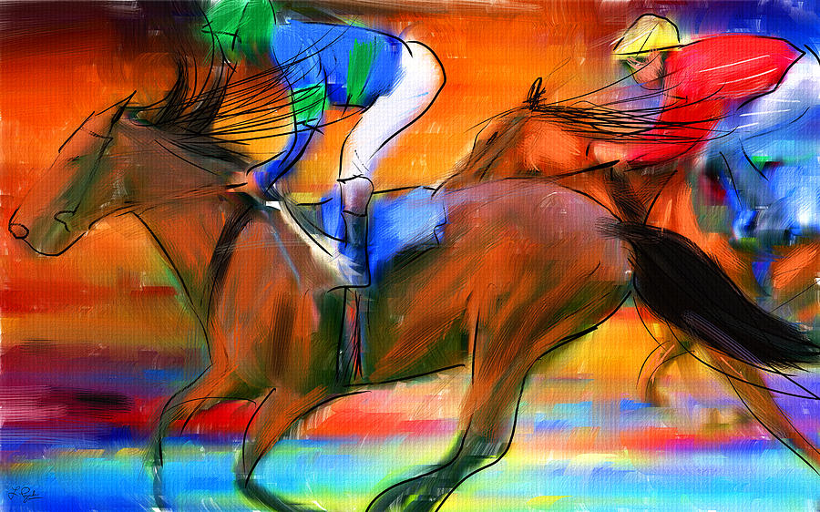 Horse Racing II Digital Art