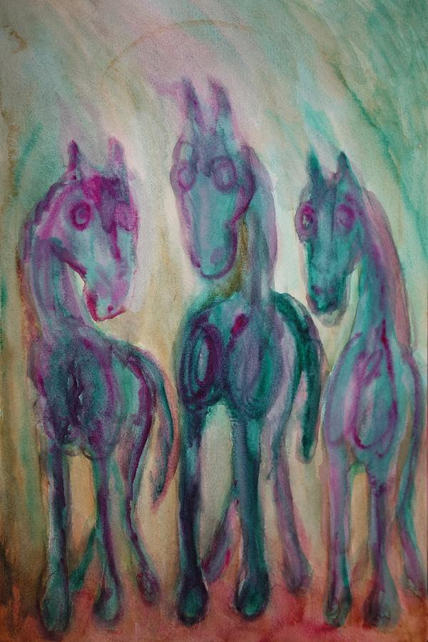 Horse Triangle Painting  - Horse Triangle Fine Art Print