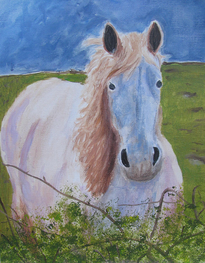 Horse With Stormy Skies Painting