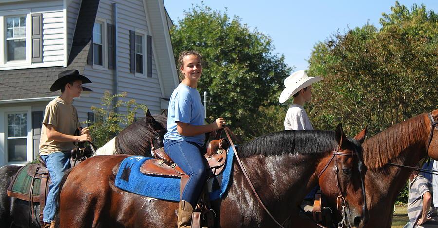 Horse Photograph - Horseback Riders by Carolyn Ricks