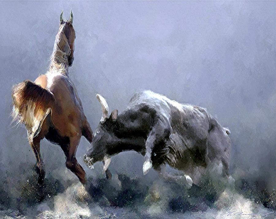 Animalizam u slikarstvu.. Horseplay-marcus-lewis