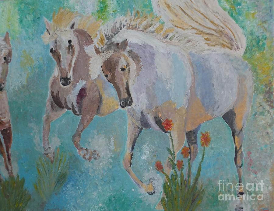 Horses From Camargue 2 Painting
