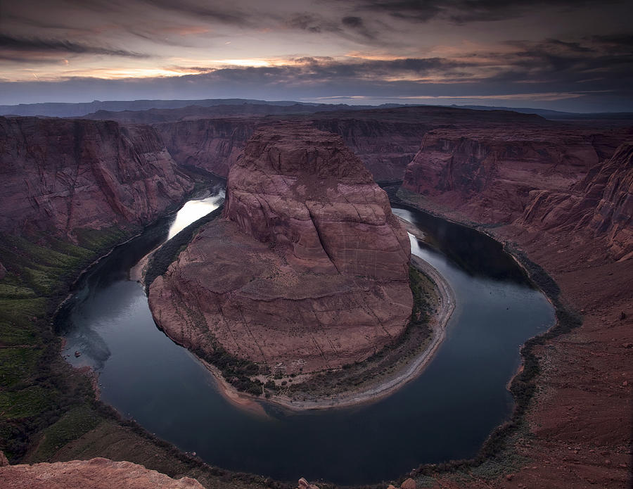 Horseshoe Bend From The Edge Photograph  - Horseshoe Bend From The Edge Fine Art Print