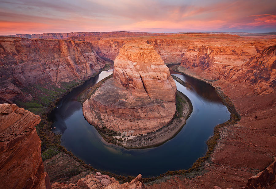 Horseshoe Bend Photograph - Horseshoe Dawn by Mike  Dawson