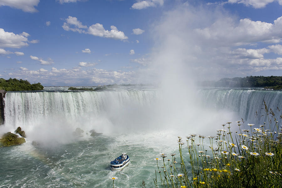 Horseshoe Falls With Maid Of The Mist Photograph  - Horseshoe Falls With Maid Of The Mist Fine Art Print