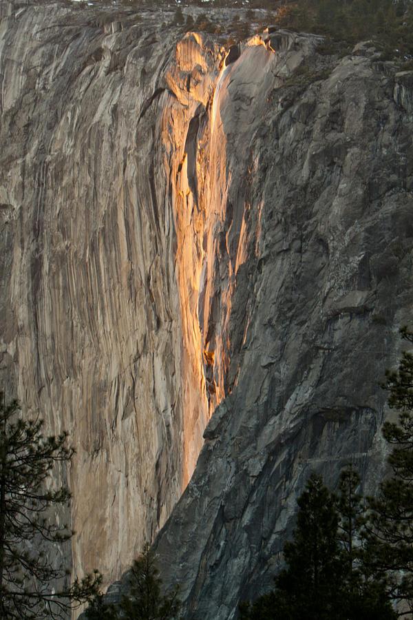 Horsetail Falls Sunset Photograph