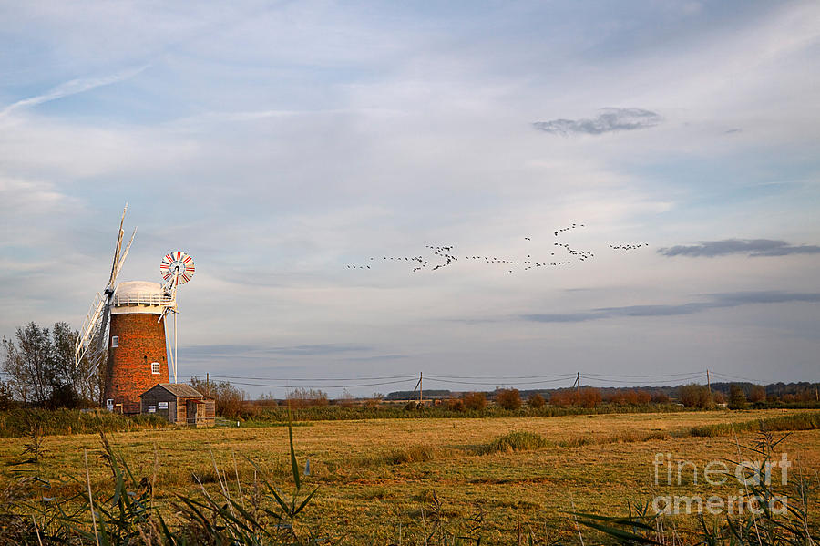 Travel Photograph - Horsey Windmill In Autumn by Louise Heusinkveld