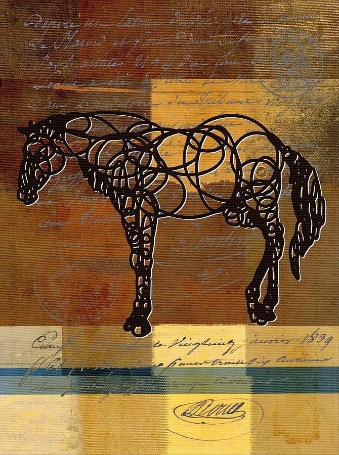 Horse Digital Art - Horso - 70s01br02t by Variance Collections