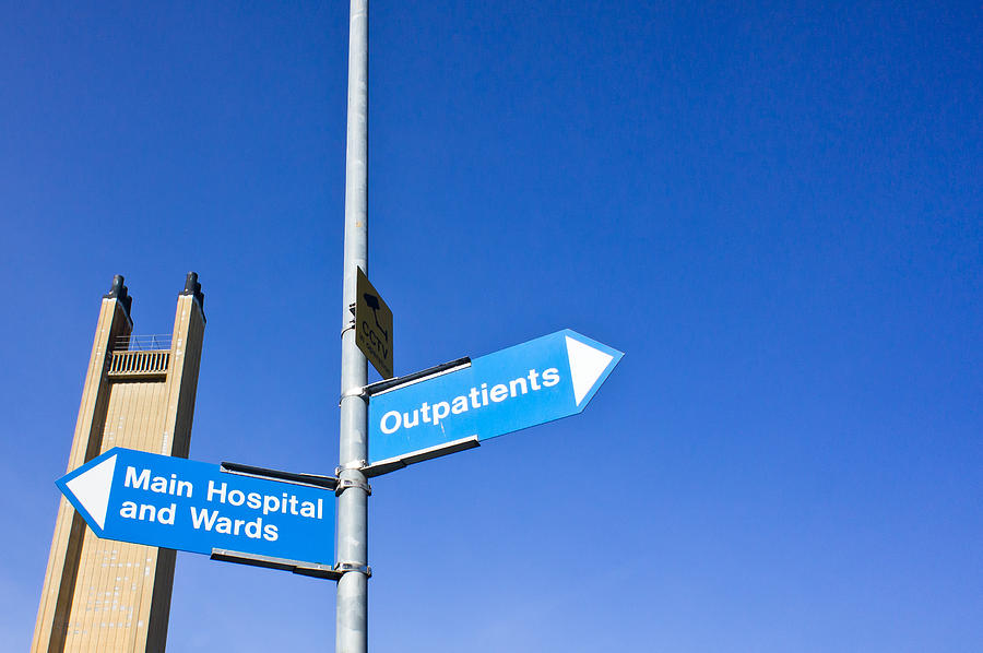 Accident Photograph - Hospital Signs by Tom Gowanlock