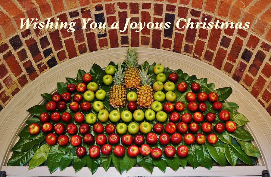 Hospitality And Welcome Christmas Card Photograph