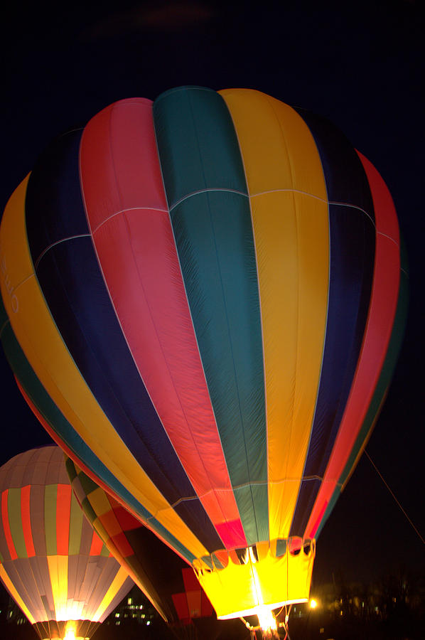 Hot Air Balloon Up Up Glow Photograph