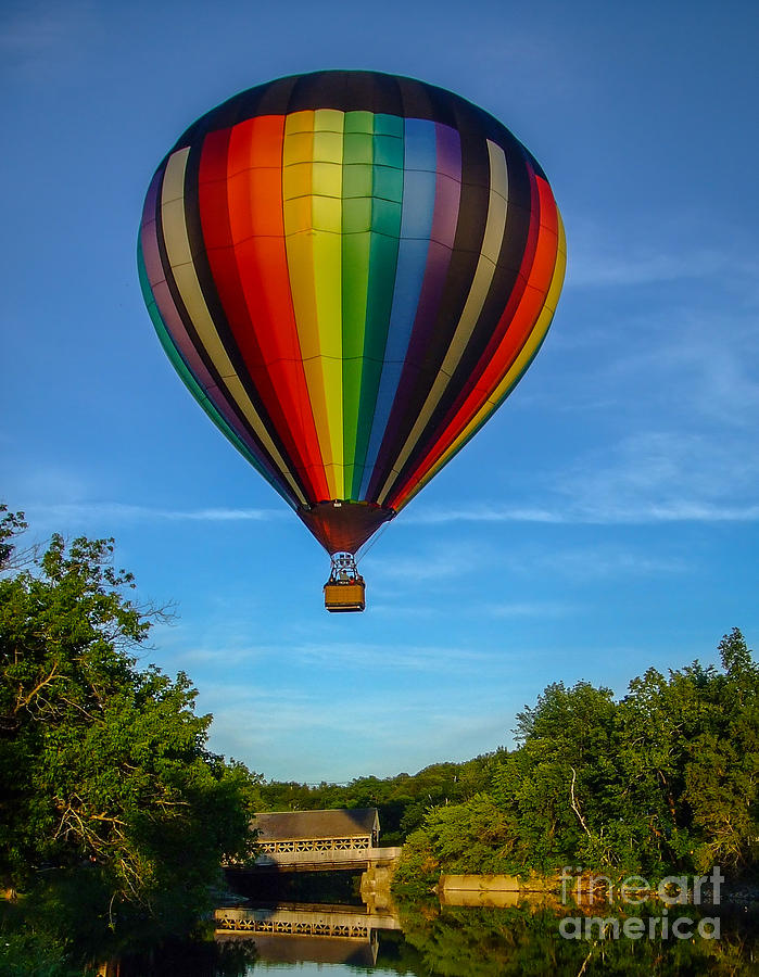 Hot Air Balloon Woodstock Vermont Photograph
