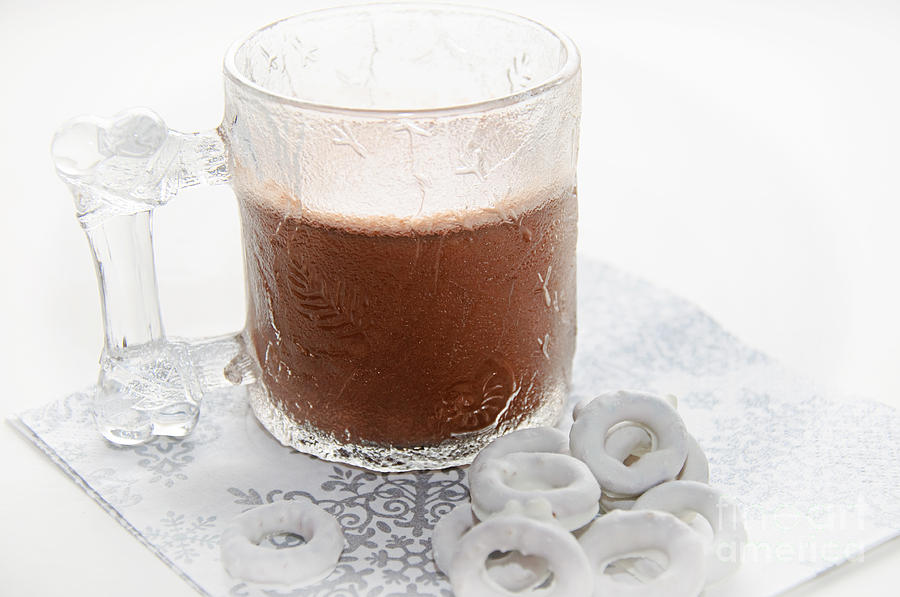 Hot Chocolate And Candy Coated Pretzels Photograph