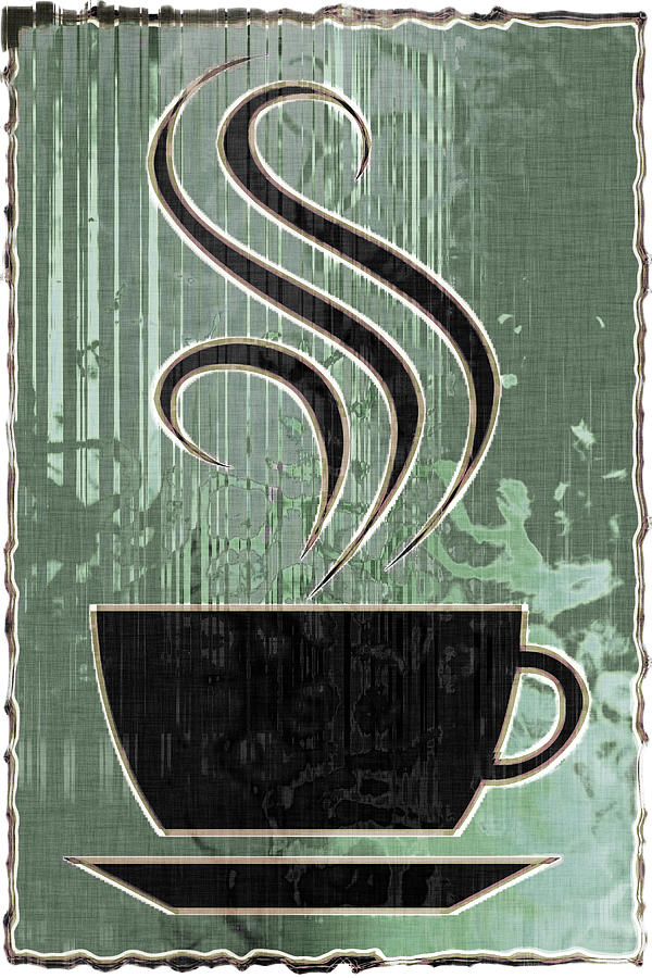 Hot Coffee Digital Art  - Hot Coffee Fine Art Print