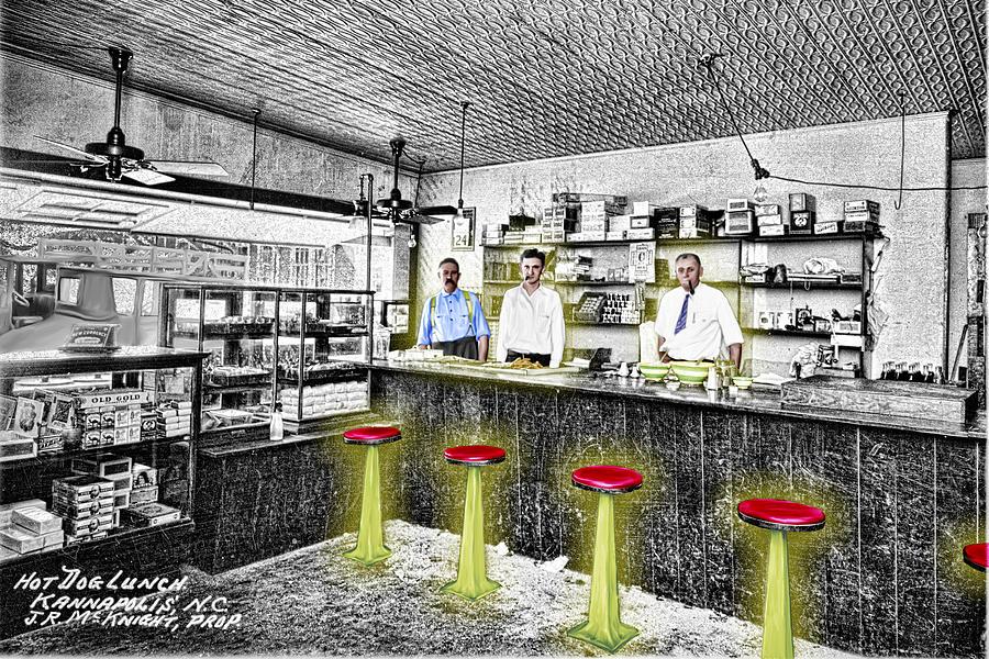 Hot Dog Lunch Digital Art
