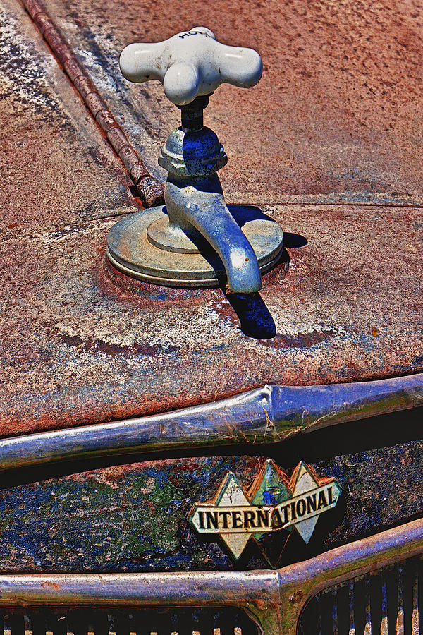 Hot Faucet Photograph - Hot Faucet Hood Ornament by Garry Gay